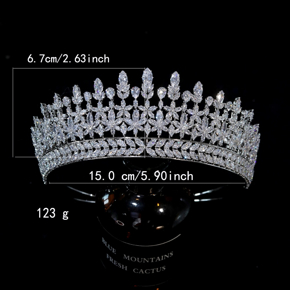 Amazing Queen Tiara Vintage Tiara Wedding Crown Bridal Tiara Wedding Hair Accessories For Women's Prom Party Jewelry, Gifts