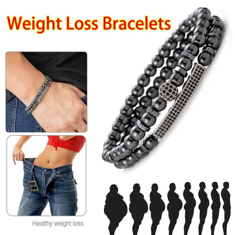 2021 Long Tube Ball Hematite Stone Bead Bracelet Charm Health Care Magnet Beads For Men Jewelry Gift Fashion
