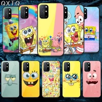 spongebobs patrick star tempered glass mobile phone bag case cover for oneplus oppo realme find x2 3 6 7 8 9 t pro nord gt neo