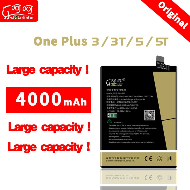 BLP613 BLP633 BLP637  for one plus  3 3T 5 5T battery 4000 mAh for one plus  3 3T 5 5T internal Battery Replacement недорого