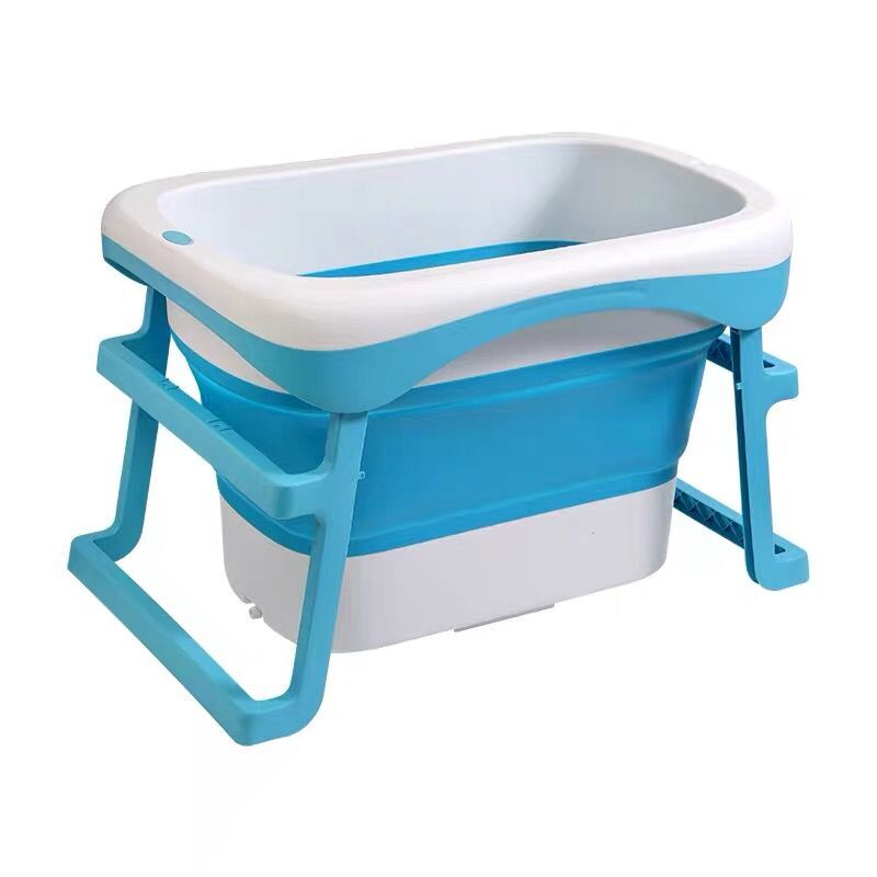 1PC Portable Folding Bathtub Baby Shower Portable Silicone Capacity Washing Storage Non-Slip Bath Tubs Foot Spa Bath Hot Tub enlarge