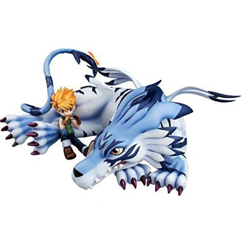 Anime Brinquedos Digimon Figure Toy Garurumon Ishida Yamato GK PVC Action Figure Model Collection Toy Dolls For Gift M4054