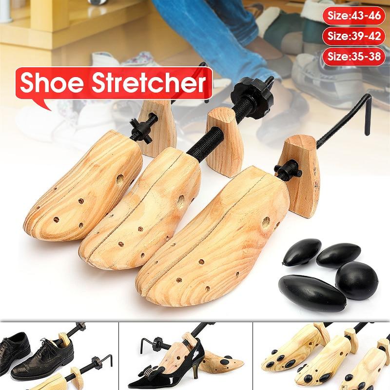 1 Piece Shoe Tree Wood Shoes Stretcher, Wooden Adjustable Man Women Flats Pumps Boot Shaper Rack Exp