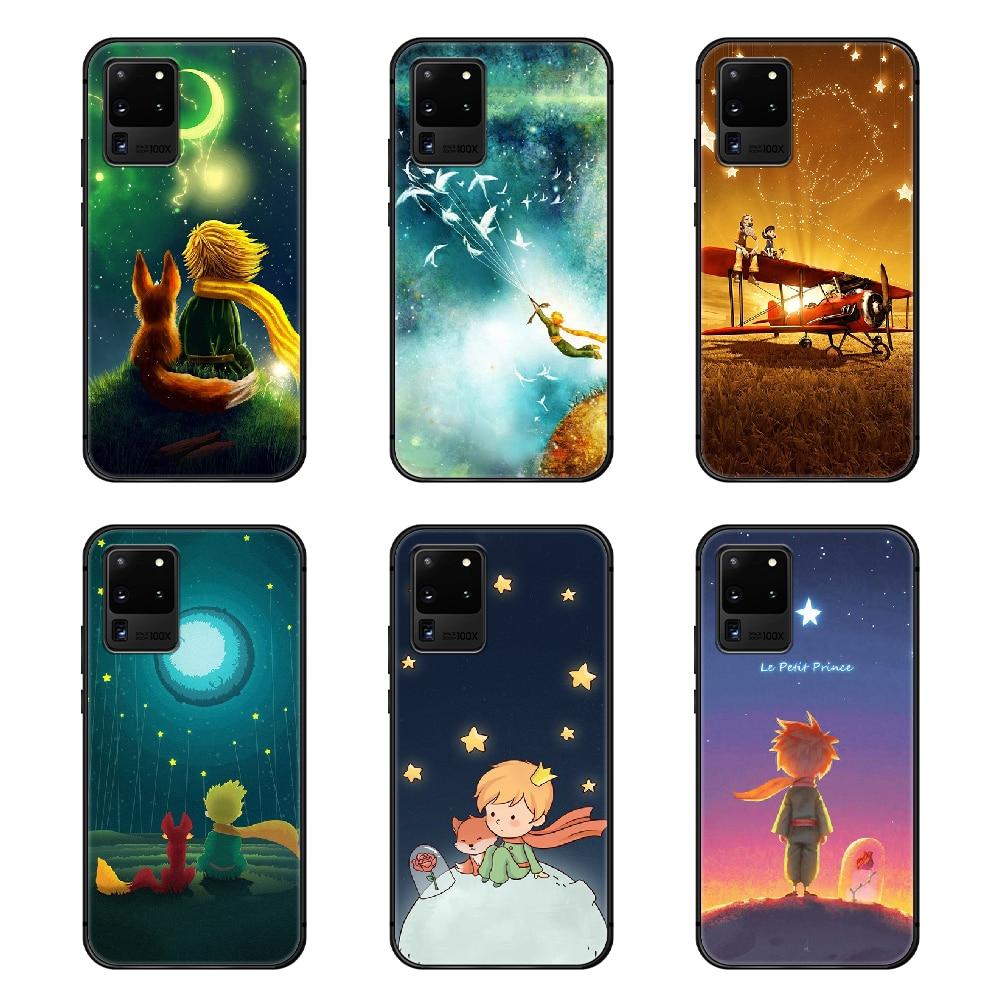 Le Petit Prince Cute Phone Case Cover Hull For Samsung Galaxy S 6 7 8 9 10 e 20 edge uitra Note 8 9 10 plus black Etui pretty