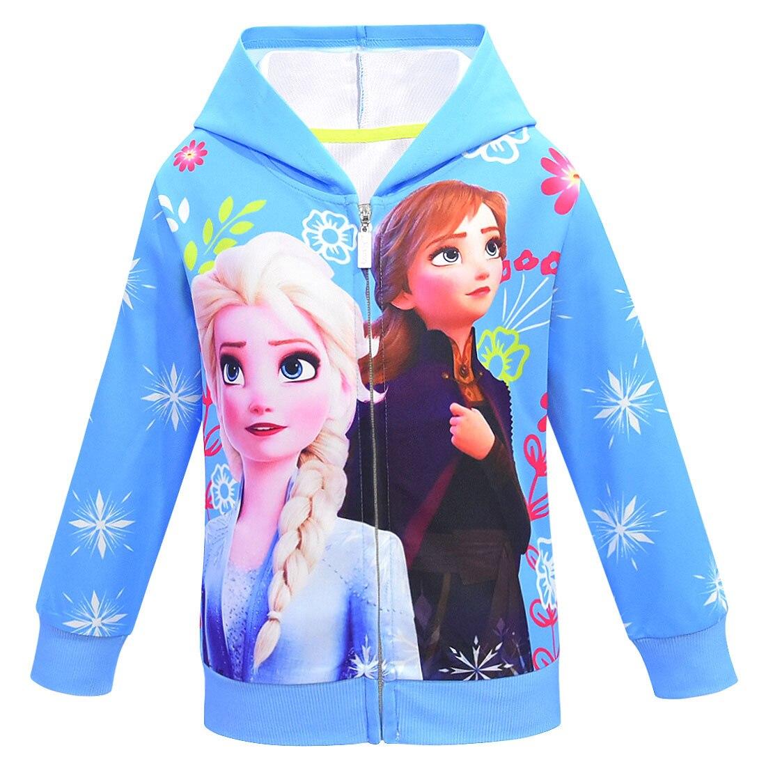 Anna Olaf imprimir niñas con capucha prendas de vestir exteriores traje 2020 nuevo primavera lindo niños de manga larga Cardigan abrigo y chaqueta E29K47
