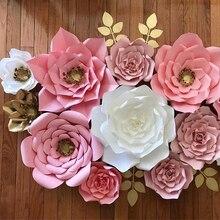 Nouveau papier fleur toile de fond mur 30 cm géant Rose fleurs bricolage décoration de fête de mariage