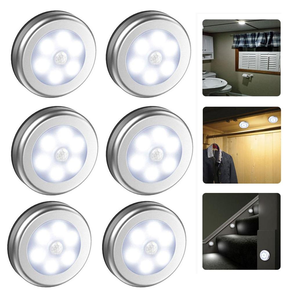 Topoch Wireless Wall Light PIR Motion Sensor Night Lamp Battery Powered for Under Cabinet Closet Wardrobe Bedroom Kitchen Stairs
