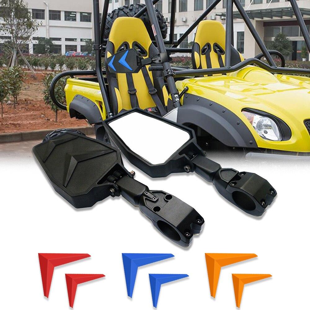 Par de espejos retrovisores laterales Offroad de 1,75 pulgadas para motocicleta UTV Polaris RZR Yamaha Rhino