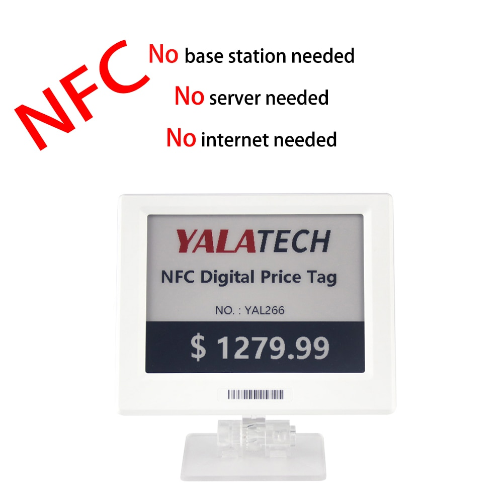 YalaTech ESL Digital E ink Epaper NFC Price Tag ESL 2.13 inch Electronic Shelf Label For Intelligent Store
