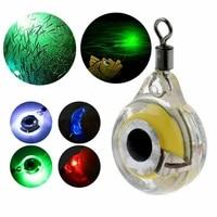 1pc mini fishing lure light led deep drop underwater eye shape fishing squid fishing bait luminous lure for attracting fish