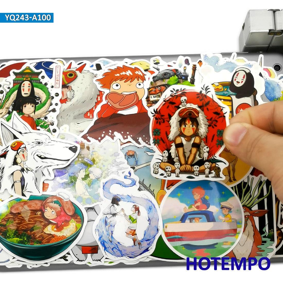 AliExpress - 100pcs Manga Miyazaki Hayao Classic Anime Movie Stickers Toys for Kids Mobile Phone Laptop Luggage Skateboard Art Decal Stickers