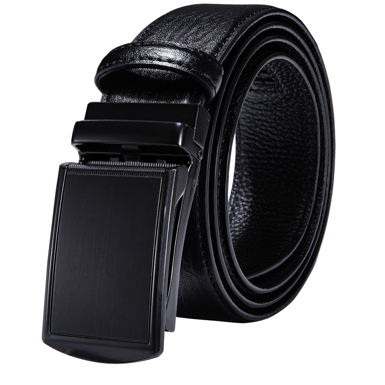 Fashion 60 Kinds Automatic Buckles Mens Belts Black Genuine Leather Men Belt Ratchet Waist Straps for Dress Jeans Easy Release