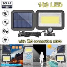 COB 56/100/120LED Solar Lamp PIR Motion Sensor Waterproof Outdoor Path Night Lighting Infrarot Sensor Garden Light Drop Ship