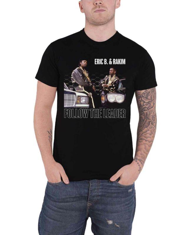Eric B Y camiseta negra para hombre nuevo oficial de Rakim sigue al líder