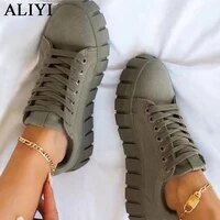 womens multi color sneakers 2021 new all season thick bottom ladies lace up comfy vulcanized shoes fashion large sized flats