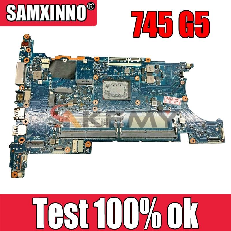 AKemy محمول لوحة رئيسية لأجهزة HP 745 G5 اللوحة L21937-001 L21937-601 6050A2945701-MB-A01 YM250B