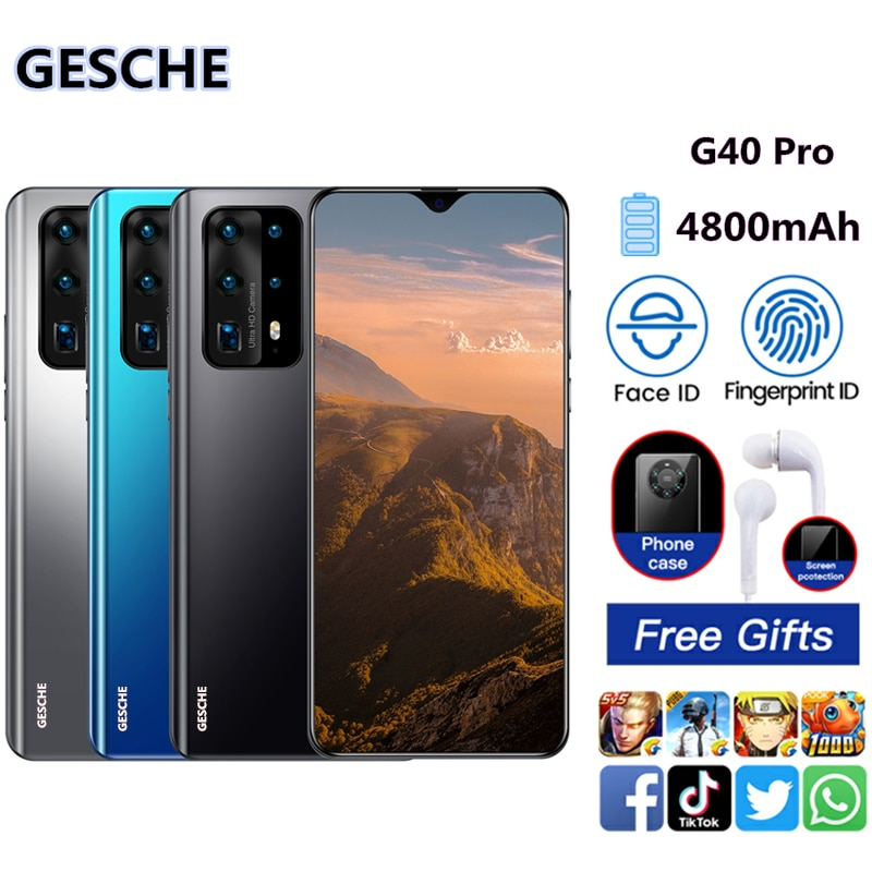 GESCHE G40 Pro  Mobile Phones Android 6.7 Inch 3GB RAM 32GB ROM Smartphones Global Version Water Drop Screen 4800mAh Cell Phone