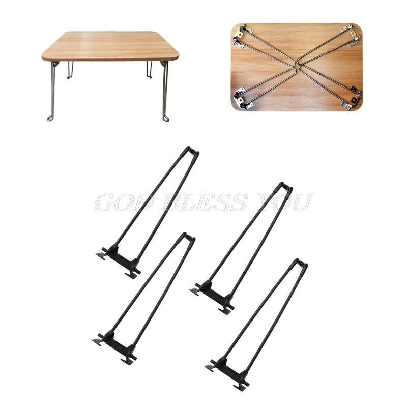 """4 pces 14 """"pesados hairpin portátil mesa dobrável pernas de mesa de café dobrável transporte da gota"""