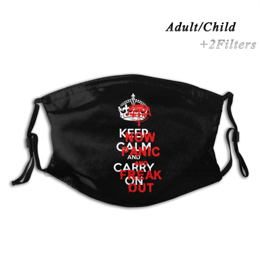 Brexit ''keep Calm And Carry On'' Now Panic And Freak Out! Reusable Mouth Face Mask Anti Haze Dustproof Mask With Filters For