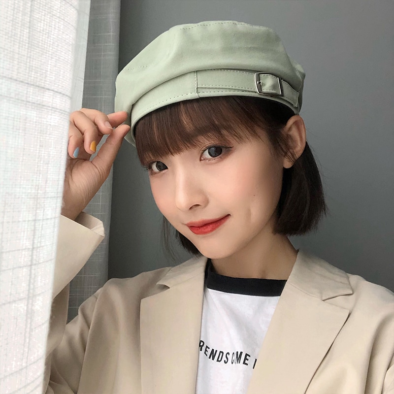 Beret Women's Ins Korean-Style Fashionable All-Matching Japanese Style British Style Retro Summer Th