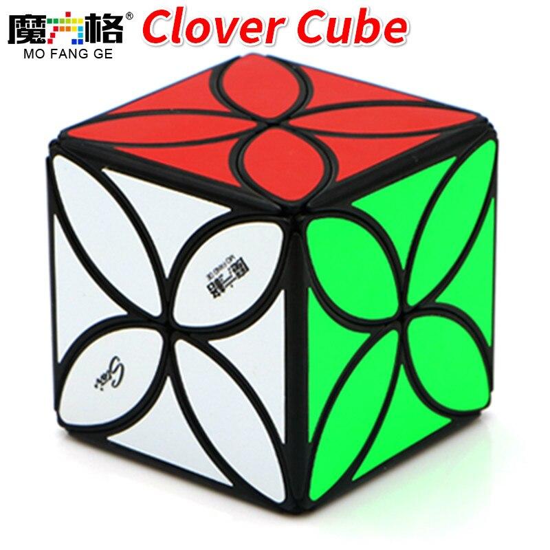 Cubo de velocidad con trébol Qiyi Mofangge, cubo mágico de forma extraña, cubo Qiyi, cubo giratorio, juguetes para niños