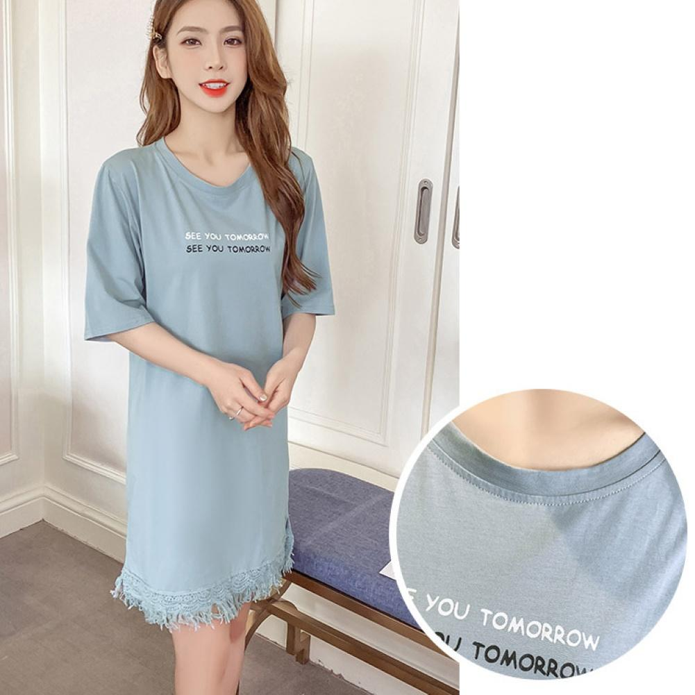 3XL Fashion Women Loose Fit Round Neck Half Sleeve Tassel Long Shirt Mini Dress Summer Dress Women Vestidos Vintage