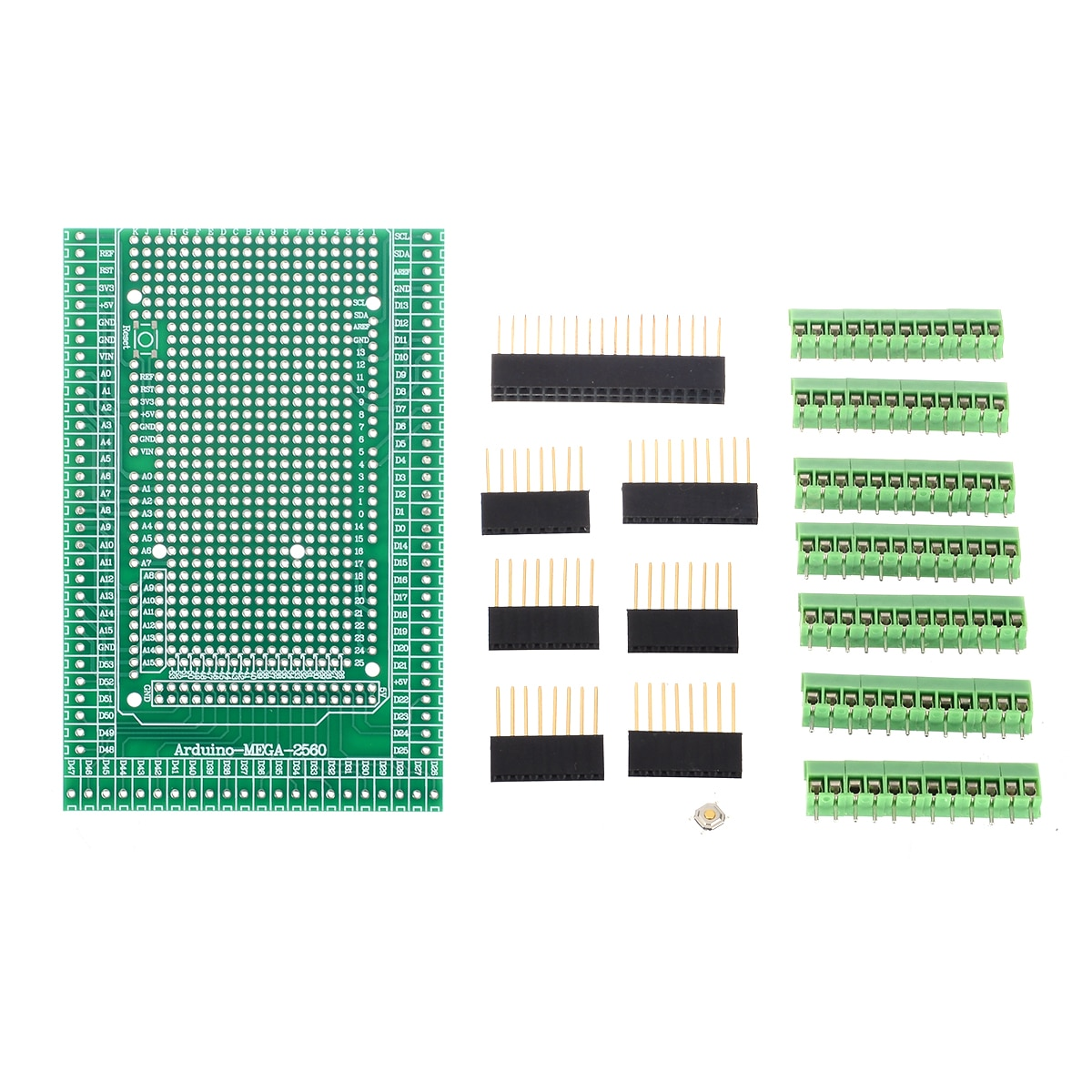 1Set Durable Terminal Block MEGA-2560 Prototype Screw Terminal Block Shield Board Female Header Sockets Kit For Arduino
