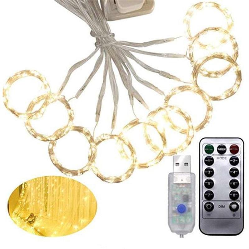 3m X 3m ghirlandă de perdea cu LED-uri pe fereastră USB lumini de - Luminări festive - Fotografie 2