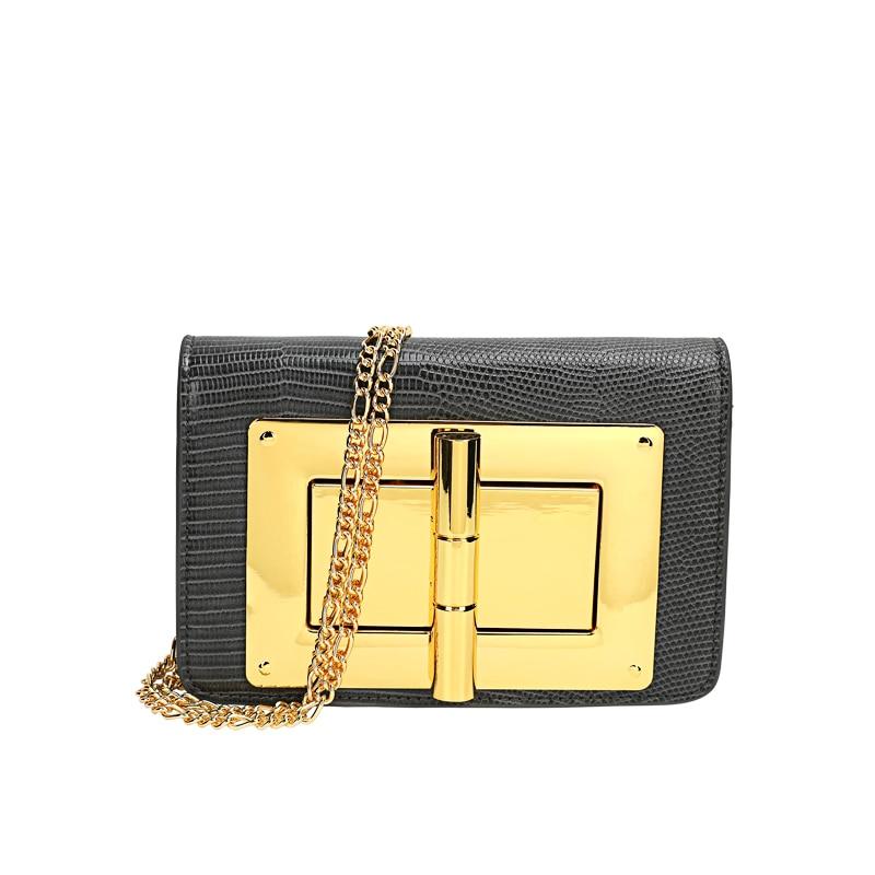 Patrón de lagarto Lock pequeño bolso cuadrado femenino 2020 bolso de moda hombro Crossbody Underarm cadena bolsos de cuero de las mujeres bolsos