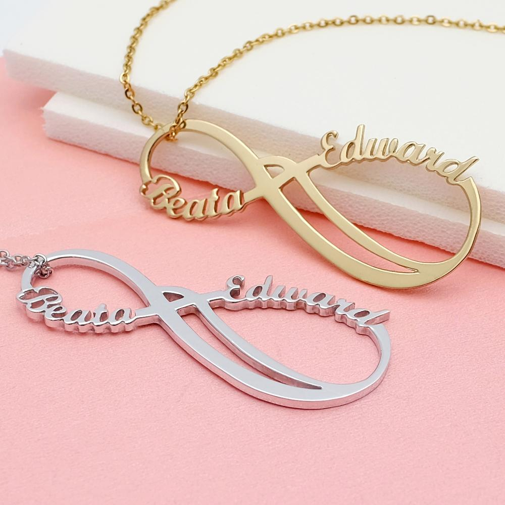 women costume two name necklace rose gold personalized infinity double names necklaces stone chain jewelery gift for lover mom Infinity Name Necklace,Personalized Infinity Necklace,Two Names Infinity Pendant,Custom Necklace,Gift For Her