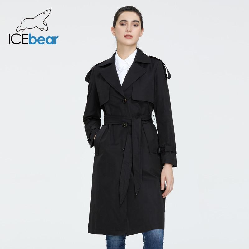 ICEbear 2020 Women's spring windbreaker high-quality women's hooded  fashion women clothing brand apparel GWF20029D