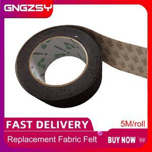 Image 1 - 5 м/рулон, автомобильная виниловая пленка, скребк, 5 см, войлочная кромка, черная ткань, 3 м, скребк, запасной войлок для автомобиля, скребок A08 5M