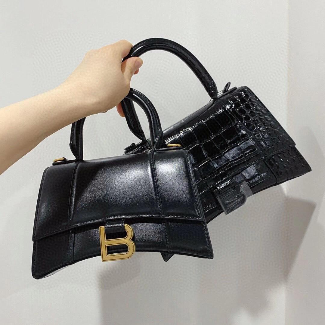 2021 factory direct sales new leather crocodile pattern hourglass bag fashion one-shoulder portable diagonal leather handbag