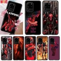 fashion marvel deadpool for samsung note 20 10 8 9 m02 m31 s m60s m40 m30 m21 m20 m10s f62 m62 m01 ultra pro plus phone case