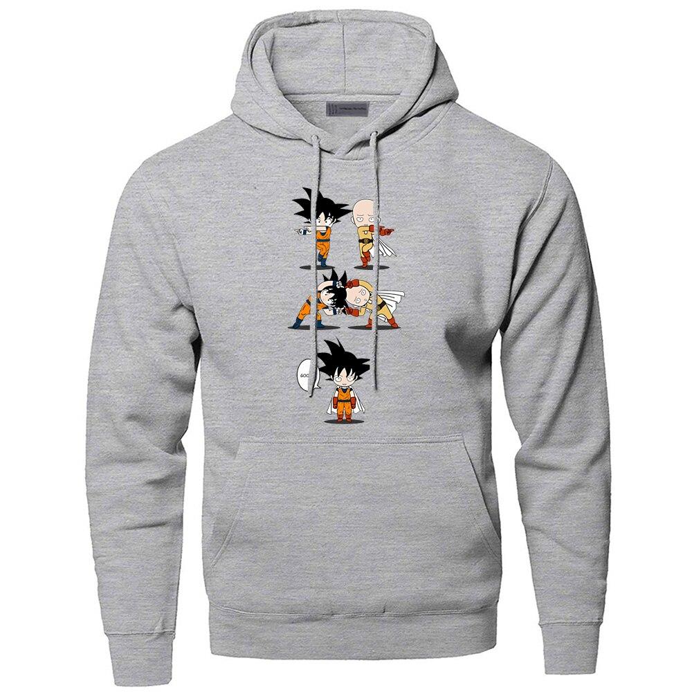 Um soco homem saitama hoodies men dragon ball super com capuz moletom com capuz inverno outono engraçado anime fusão esportiva