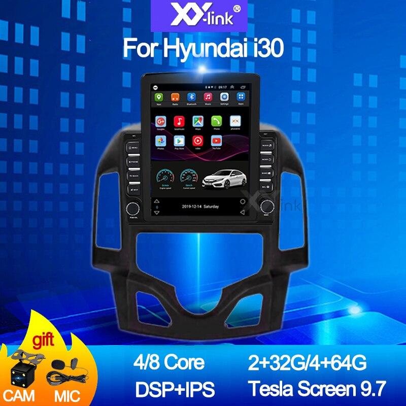 9.7 polegadas tesla android 10.0 para hyundai i30 2009-2016 ips dsp 4g lte carro multimídia vídeo gps rádio player estéreo nenhum 2 din dvd