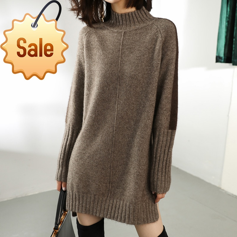 Sweaters Autumn Winter Sweater Women Turtleneck Long Cashmere Sweater Women Sweater Knitting Pullover New Loose Plus Size Tops