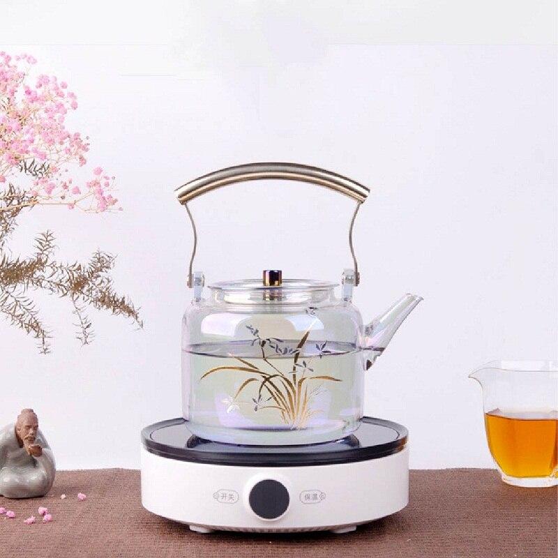 1000 Вт Мини электрическая фотомагнитная чайная плита, водонепроницаемая Бесшумная домашняя печь для приготовления кофе и чая без излучения