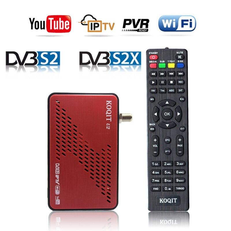 Receptor de DVB-S2 decodificador satélite DVB S2X gratis, Receptor de tv satelital, buscador de Youtube, Autoroll Biss, clave de poder vu Scam IKS