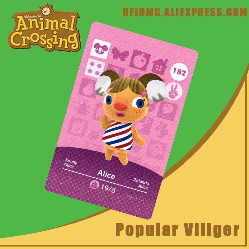 Tarjeta Alicia Animal Crossing Amiibo 182 para nuevos horizontes