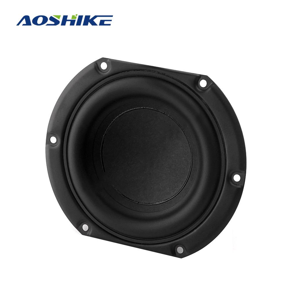 AOSHIKE, altavoz de bajos medios para coche de 4 pulgadas, 6 Ohm, 30W, altavoz estéreo de música para vehículo, altavoz Hifi de frecuencia de rango completo para coche