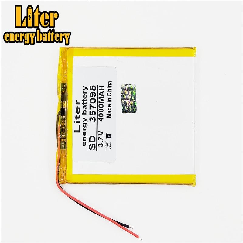 Литий-ионный аккумулятор 3,7 В 4000 мАч (полимерный литий-ионный аккумулятор) для планшетных ПК, 7 дюймов, MP3 MP4 [357095], бесплатная доставка