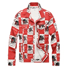 Sokotoo männer schädel buchstaben gedruckt jean jacke Mode dünne lange rot denim mantel Oberbekleidung