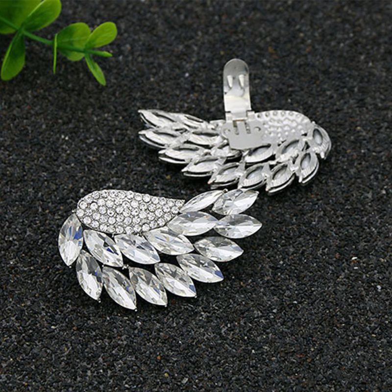 Pince à chaussures ailes dargent amovible bricolage boucle femmes talons hauts décoration de mariage breloques Clips