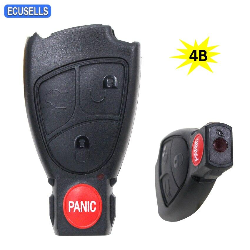 Carcasa para llave remota de 4 botones, carcasa inteligente para llave de coche para mercedes-benz C230 CL500 E320 E55 S430 S500 SL500 S500 SL500 S430