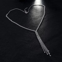 platinum diamond long sweater chain necklace water diamond environmental protection temperament fashion 2021 new hot necklace
