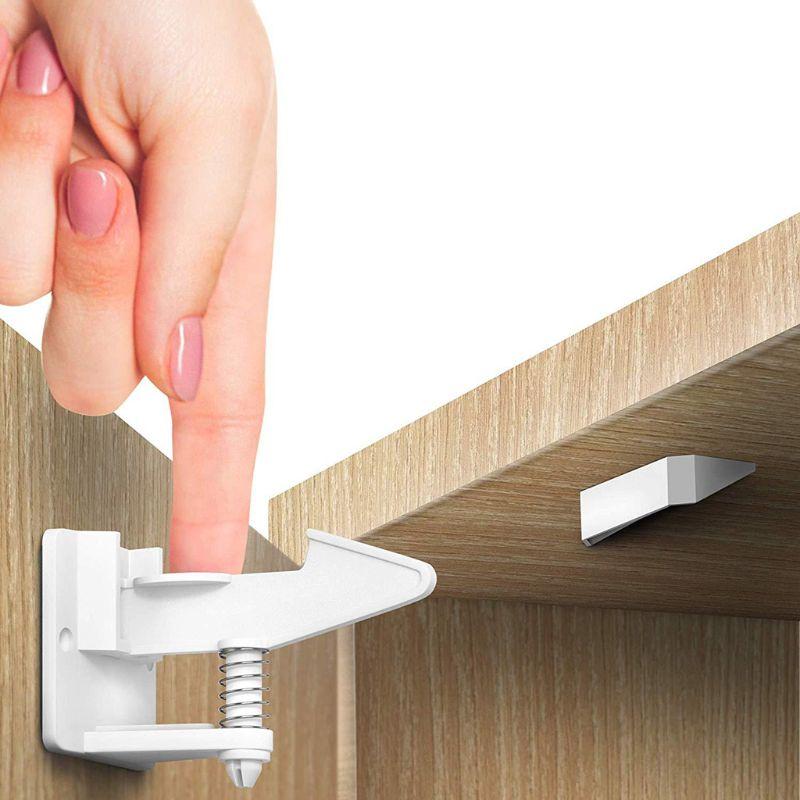 10 قطعة سلامة الطفل واقية قفل الطفل مكافحة قرصة الأيدي غير مرئية الربيع قفل H3CC