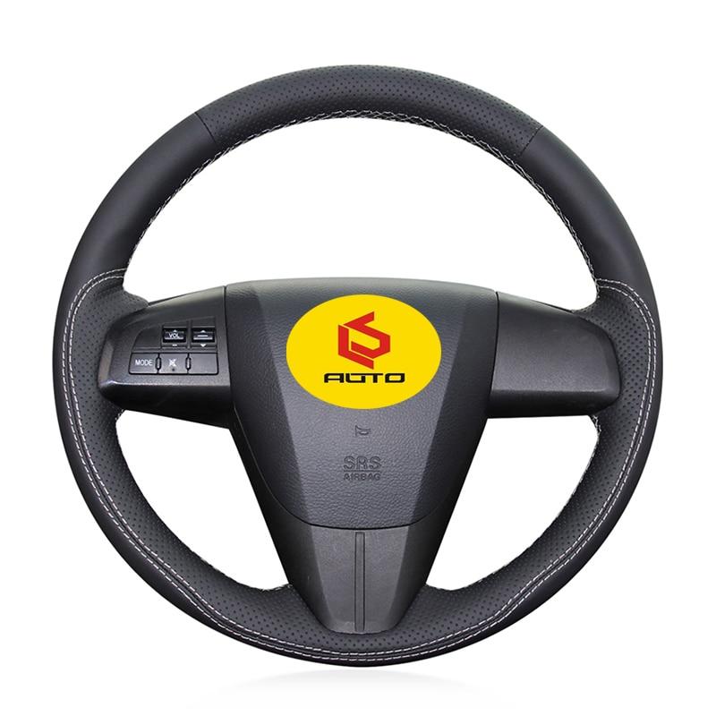 Braid on the Steering Wheel Cover for Mazda 3 Axela 2008-2013 Mazda CX-7 CX7 2010-2016 Mazda 5 2011-2013 For Mazda 6 GH