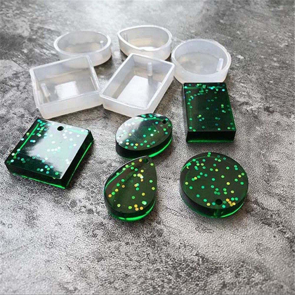 5 uds DIY resina arte decorativo molde para fabricar joyas epoxi resina moldes de estilo de moda colgante de Scrapbooking molde de silicona de nuevo