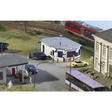 Miniature model  187  HO ratio  61835 fast food restaurant  Urban building model  Building model materials of train sand table